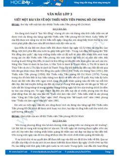 Viết một bài văn về Đội Thiếu niên Tiền phong Hồ Chí Minh - Văn mẫu lớp 3
