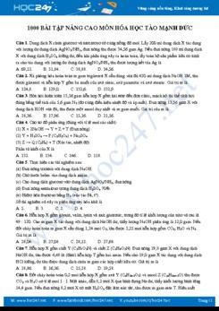 1000 Bài tập nâng cao môn Hóa học - Tào Mạnh Đức