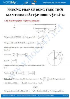 Hướng dẫn sử dụng phương pháp về Trục thời gian trong bài tập DĐĐH Vật lý 12