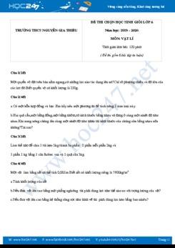 Đề thi HSG lớp 6 năm học 2019-2020 trường THCS Nguyễn Gia Thiều có đáp án