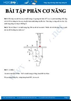 Chuyên đề Bài tập phần Cơ năng bồi dưỡng HSG môn Vật lý 8 năm 2020