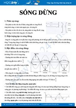 Chuyên đề ôn tập tổng quát về Sóng dừng môn Vật lý 12 năm 2020