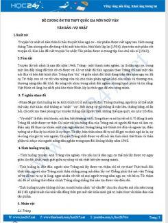 Đề cương ôn thi THPTQG môn Ngữ Văn - Văn bản Vợ nhặt