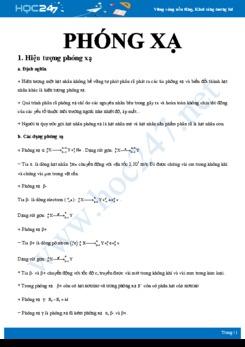 Lý thuyết tổng hợp về hiện tượng phóng xạ và định luật phóng xạ môn Vật lý 12