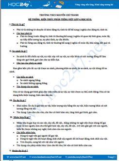 Ôn tập HK2 phần Tiếng Việt môn Ngữ Văn 6 - Trường THCS Nguyễn Chí Thanh