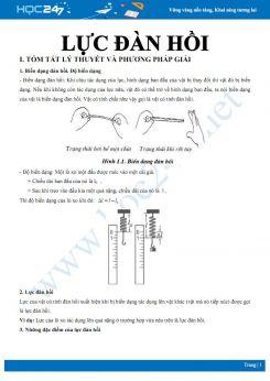 Lý thuyết và bài tập chuyên đề Lực đàn hồi môn Vật lý 6 có đáp án