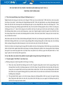 Ôn tập một số tác phẩm truyện ngắn hiện đại Ngữ Văn 11- Trường THPT Đồng Đậu