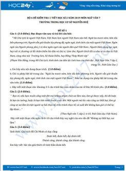 Bộ 6 đề kiểm tra 1 tiết HK2 năm 2020 môn Ngữ Văn 7 - Trường THCS Nguyễn Huệ