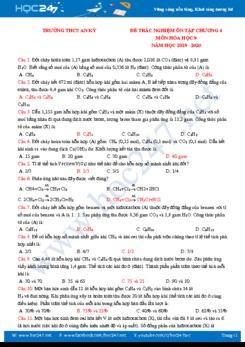 Đề cương ôn tập Chương 4 môn Hóa học 9 Trường THCS An Kỳ