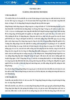 Tả cảnh dòng sông Hương - Văn mẫu lớp 5