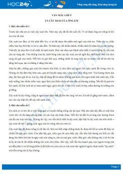 Tả về cây xoài của ông em - Văn mẫu lớp 5