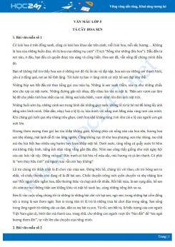 Tả về cây hoa sen - Văn mẫu lớp 5