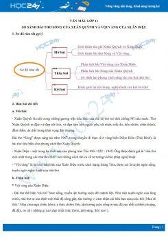 So sánh bài thơ Sóng của Xuân Quỳnh và Vội vàng của Xuân Diệu