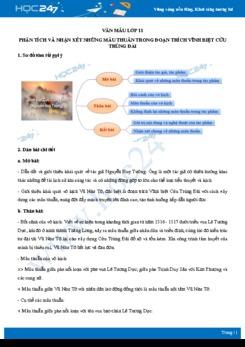 Phân tích và nhận xét những mâu thuẫn trong đoạn trích Vĩnh biệt Cửu Trùng Đài