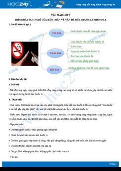Trình bày suy nghĩ của bản thân về vấn đề hút thuốc lá hiện nay