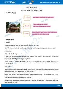 Thuyết minh về chùa Hương