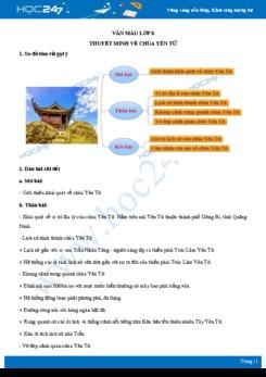Thuyết minh về chùa Yên Tử