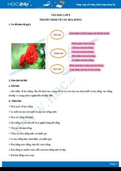 Thuyết minh về cây hoa hồng