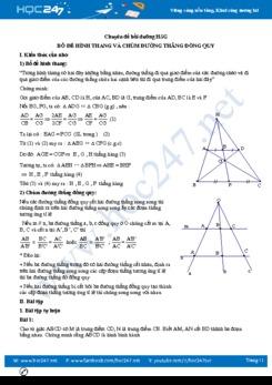 Chuyên đề Bổ đề hình thang và chùm đường thẳng đồng quy Toán 8