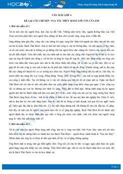 Kể lại câu chuyện Vua tàu thủy bằng lời văn của em - Văn mẫu lớp 4
