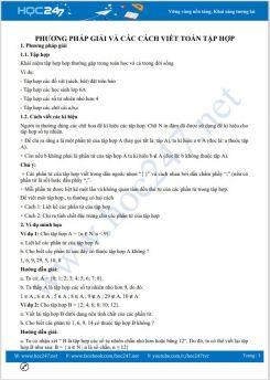 Phương pháp giải và các cách viết tập hợp Toán 6