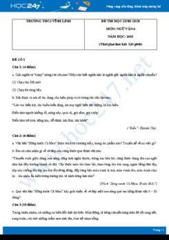 Bộ 5 đề thi học sinh giỏi môn Ngữ văn 6 năm 2021 Trường THCS Vĩnh Linh