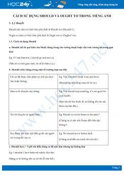 Cách sử dụng Should và Ought to trong Tiếng Anh