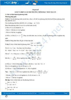 Chuyên đề Giải và biện luận hệ phương trình bậc nhất hai ẩn Toán 9