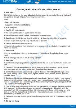 Tổng hợp bài tập Giới từ Tiếng Anh 11